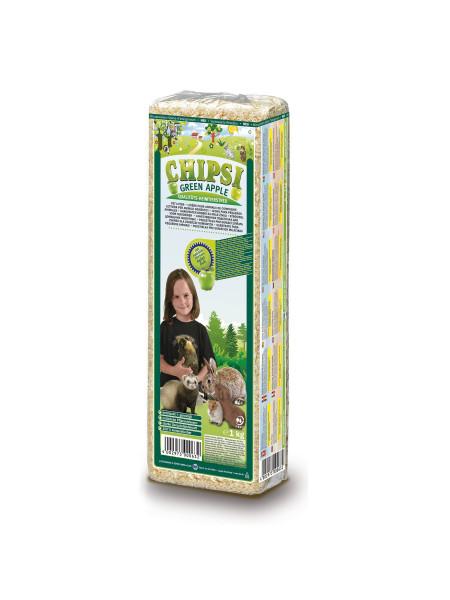 Гигиенический наполнитель для грызунов Chipsi «Green Apple» 15 л (тырса)