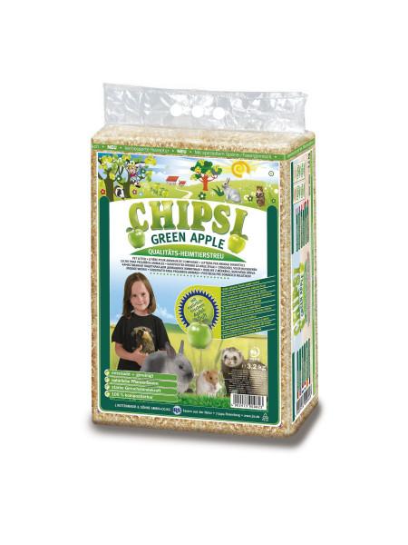 Гигиенический наполнитель для грызунов Chipsi «Green Apple» 60 л (тырса)