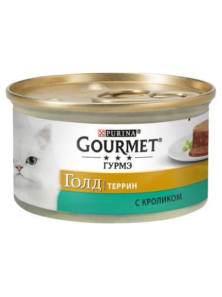 Влажный корм для кошек Gourmet Gold Pieces in Pate Rabbit 85 г (кролик)