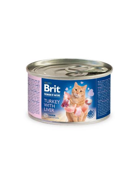 Влажный корм для кошек Brit Premium Turkey & Liver 200 г (паштет с индейкой и печенью)