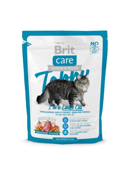 Сухой корм для кошек крупных пород Brit Care Cat Tobby I am a Large Cat 400 г (утка и курица)