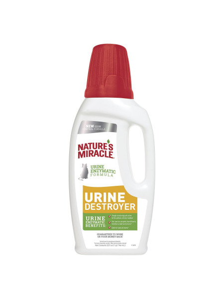 Устранитель Nature's Miracle «Urine Destroyer» для удаления пятен и запахов от мочи котов 946 мл