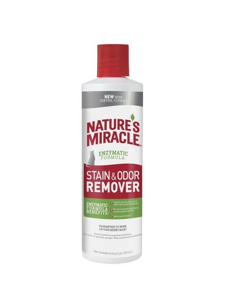 Устранитель Nature's Miracle «Stain & Odor Remover» для удаления пятен и запахов от кошек 473 мл