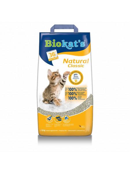 Наполнитель туалета для кошек Песок Biokat's Natural 10кг (бентонитовый)