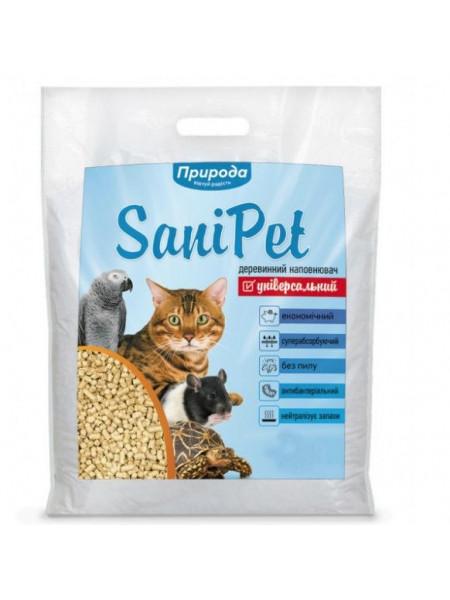 Наполнитель туалета для кошек Природа Sani Pet «Универсальный» 10 кг (древесный)