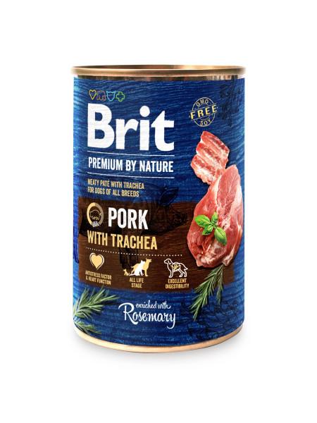 Влажный корм для собак Brit Premium By Nature Pork with Trachea 400 г (свинина)