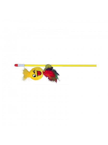 Игрушка для кошек Trixie Удочка с игрушкой 50 см (плюш, цвета в ассортименте)