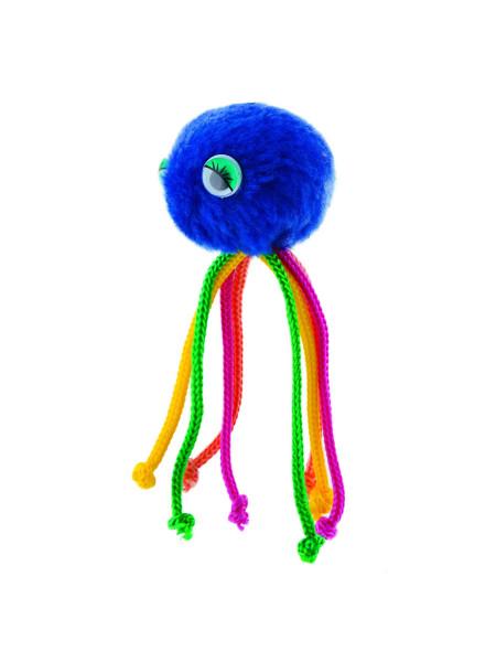 Игрушка для кошек Природа Мяч с веревочками на резинке «Осьминог» d=5 см (плюш)