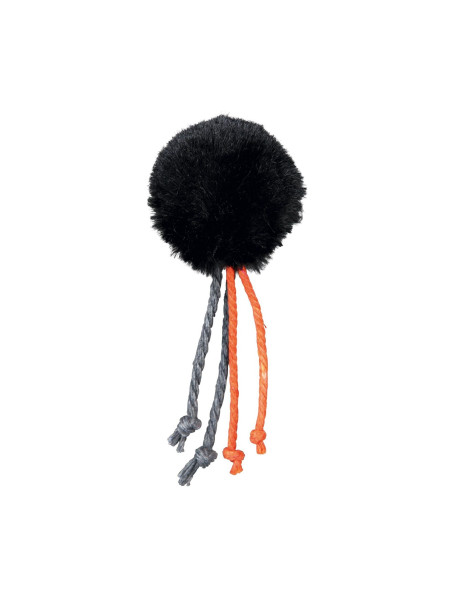 Игрушка для кошек Trixie Мяч с погремушкой и веревочками d=4 см (плюш, цвета в ассортименте)