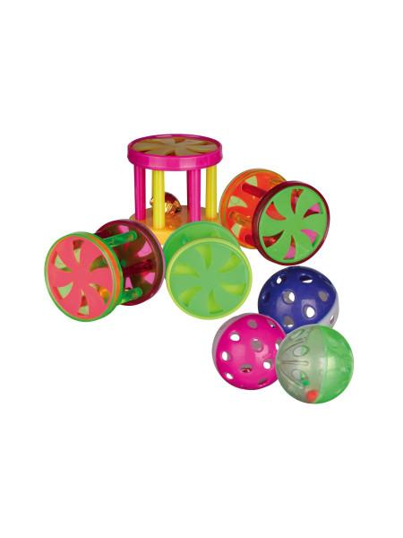 Игрушка для кошек Trixie Мяч / валик с погремушкой d=4,5 см (пластик, цвета в ассортименте)
