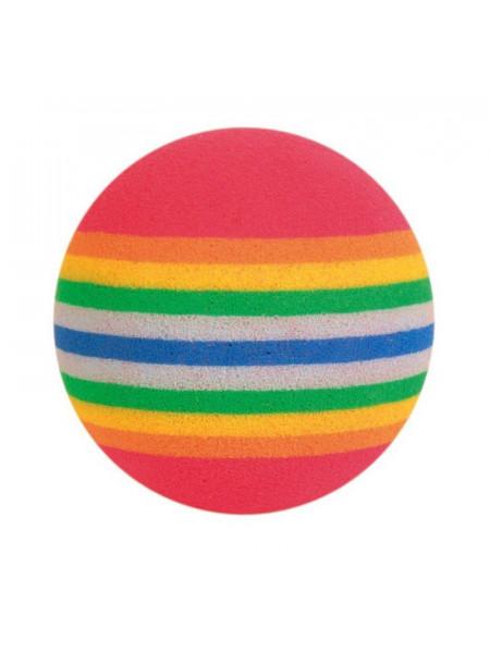 Игрушка для кошек Trixie Мяч радужный d=4 см, набор 4 шт. (вспененная резина)