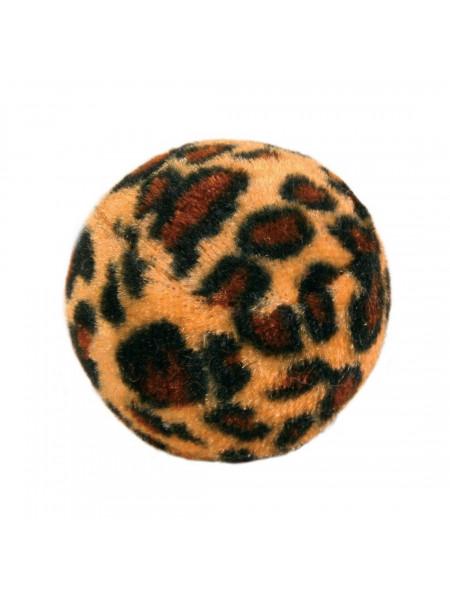 Игрушка для кошек Trixie Мяч леопардовый с погремушкой d=4 см, набор 4 шт.