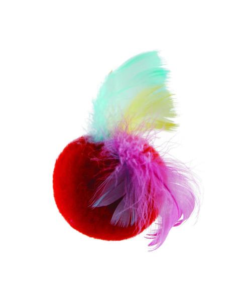 Игрушка для кошек Природа Мяч с перьями d=5 см (плюш)