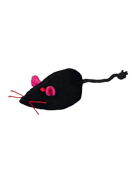 Игрушка для кошек Trixie Мышка с погремушкой 5 см (плюш, цвета в ассортименте)