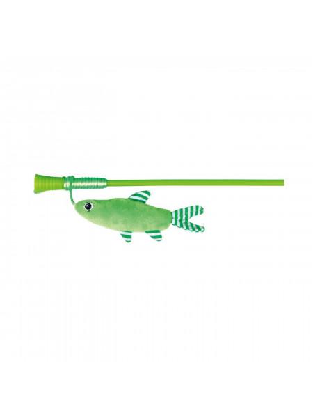 Игрушка для кошек Trixie Удочка с рыбкой 42 см (плюш)