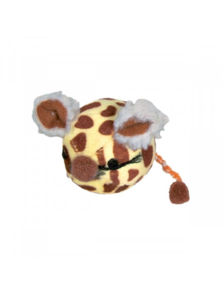 Игрушка для кошек Trixie Мяч-мышка d=4,5 см (цвета в ассортименте)