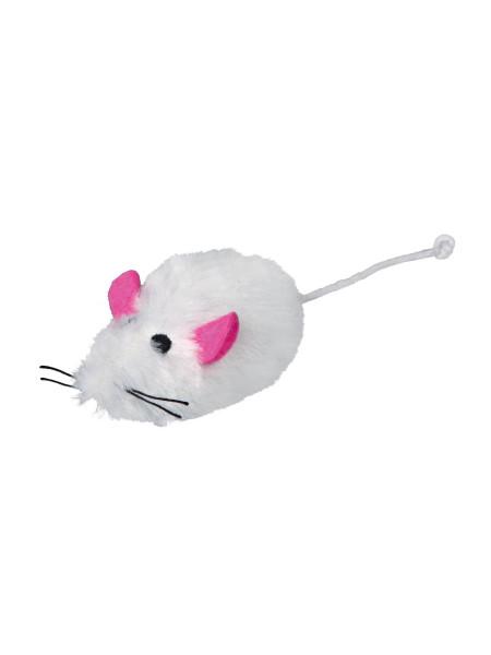 Игрушка для кошек Trixie Мышка с пищалкой 9 см (плюш, цвета в ассортименте)