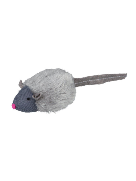 Игрушка для кошек Trixie Мышка с микрочипом 6 см (плюш, цвета в ассортименте)
