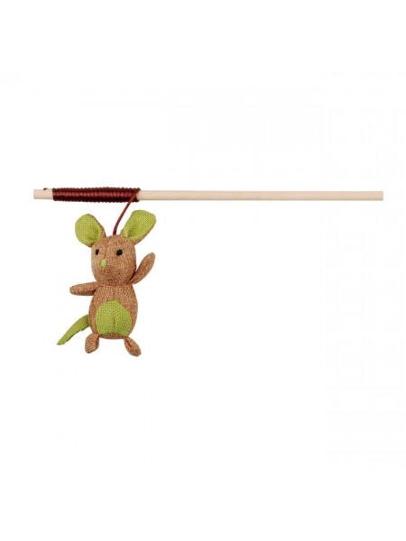 Игрушка для кошек Trixie Удочка с мышкой 40 см (ткань)