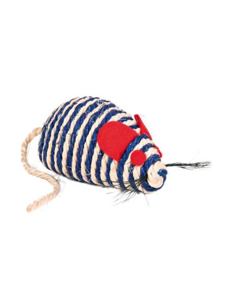 Игрушка для кошек Trixie Мышка с погремушкой 10 см (сизаль)