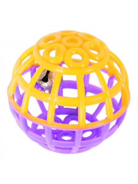 Игрушка для кошек Природа Мяч с погремушкой d=4,5 см (пластик, цвета в ассортименте)