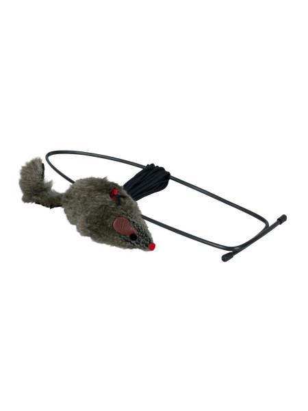 Игрушка для кошек Trixie Мышка с креплением на дверной проём 8 см / h=190 см (плюш)