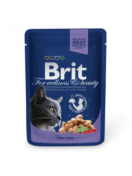 Влажный корм для кошек Brit Premium Cat Cod Fish pouch 100 г (треска)