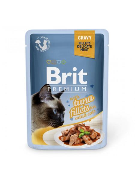 Влажный корм для кошек Brit Premium Cat Tuna Fillets Gravy pouch 85 г (филе тунца в соусе)