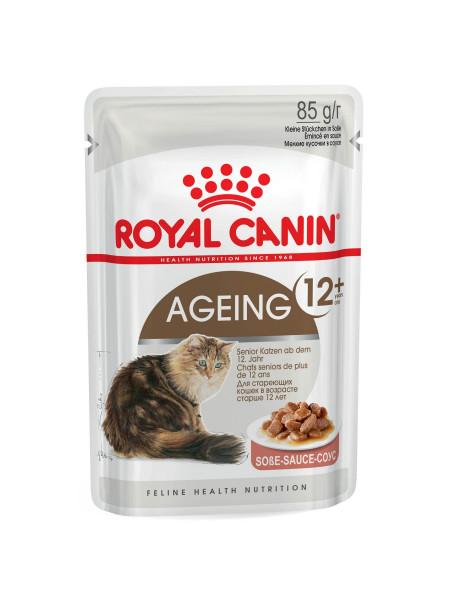 Влажный корм для пожилых кошек Royal Canin Ageing 12+, 85 г (домашняя птица)
