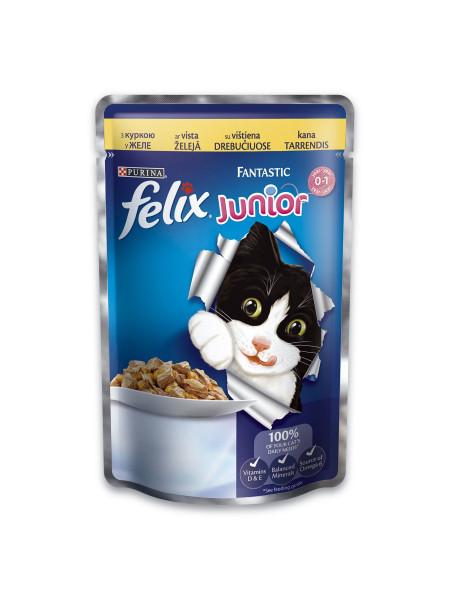Влажный корм для котят Felix Fantastic Junior Chicken 100 г (курица)
