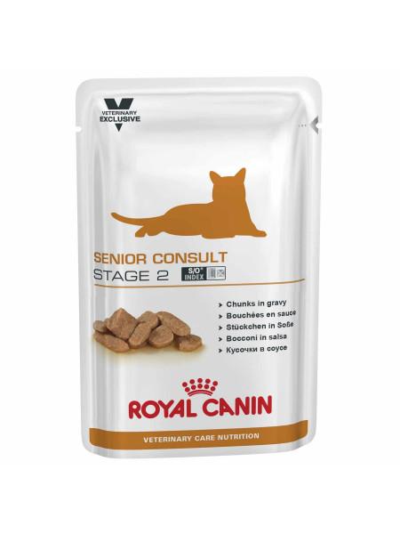 Влажный корм для пожилых кошек Royal Canin Senior Consult Stage 2, 100 г (домашняя птица)