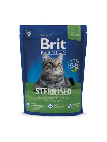 Сухой корм для стерилизованных кошек Brit Premium Cat Sterilized 300 г (курица)