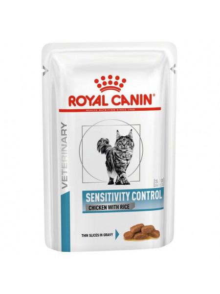 Влажный корм для кошек, при пищевой аллергии Royal Canin Sensitivity Control 85 г (домашняя птица)