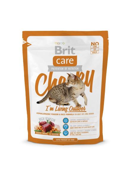 Сухой корм для кошек живущих на улице Brit Care Cat Cheeky I am Living Outdoor 400 г (оленина и рис)