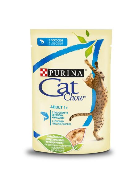 Влажный корм для кошек Cat Chow Adult 85 г (лосось и горох)