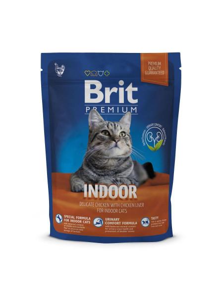 Сухой корм для кошек живущих в помещении Brit Premium Cat Indoor 300 г (курица)