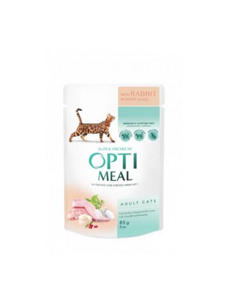Влажный корм для взрослых кошек Optimeal 85 г (кролик)