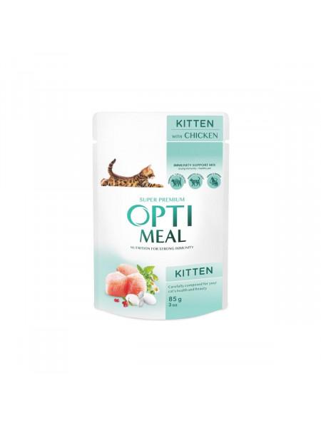 Влажный корм для котят Optimeal 85 г (курица)
