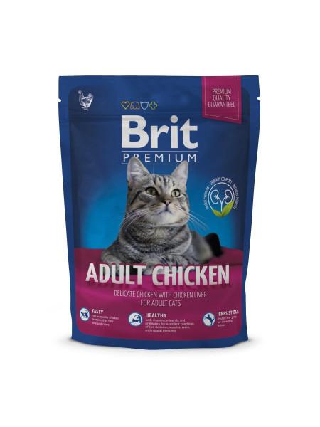 Сухой корм для кошек Brit Premium Cat Adult Chicken 300 г (курица)
