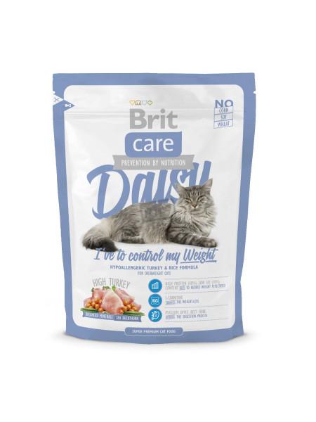 Сухой корм для кошек с лишним весом Brit Care Cat Daisy I have to control my Weight 400 г (индейка и рис)