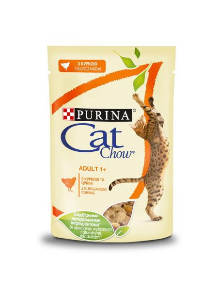 Влажный корм для кошек Cat Chow Adult 85 г (курица и цуккини)