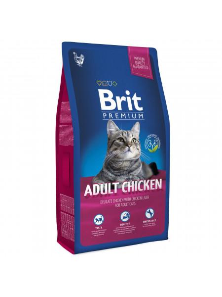 Сухой корм для кошек Brit Premium Cat Adult Chicken 8 кг (курица)
