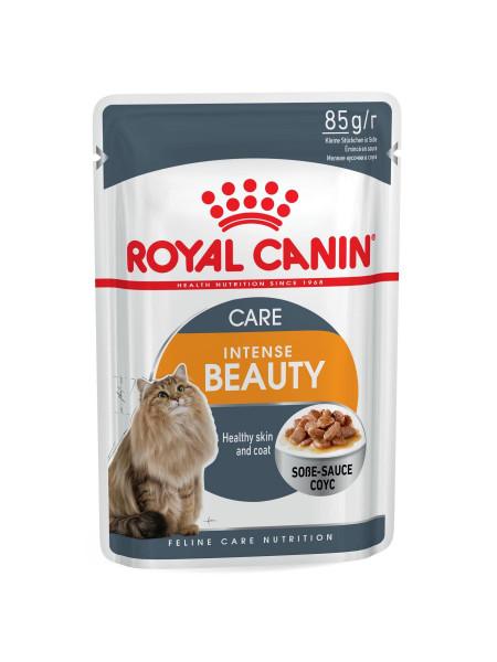 Влажный корм для кошек, шерсть которых требует дополнительного ухода Royal Canin Intense Beauty Gravy 85 г (домашняя птица)