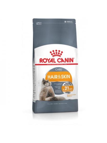 Сухой корм для кошек, шерсть которых требует дополнительного ухода Royal Canin Hair & Skin 400 г (домашняя птица)