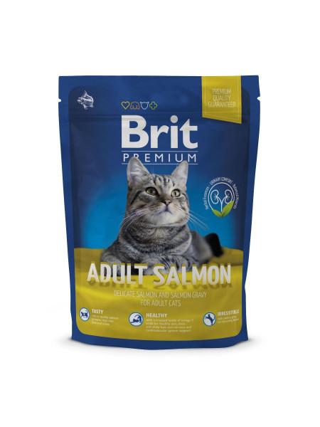 Сухой корм для кошек Brit Premium Cat Adult Salmon 300 г (лосось)