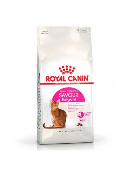 Сухой корм для привередливых котов с чувствительным пищеварением Royal Canin Savour Exigent 400 г (домашняя птица)