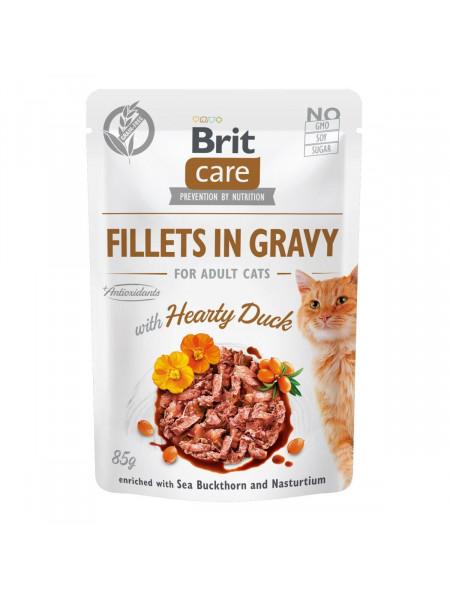 Влажный корм для кошек Brit Care Cat pouch 85g (филе утки в соусе)