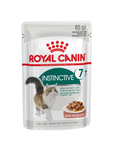 Влажный корм для пожилых кошек Royal Canin Instinctive Gravy 7+, 85 г (домашняя птица)