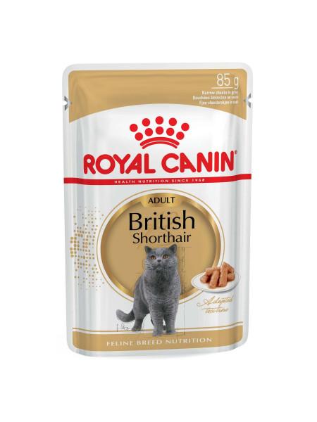 Влажный корм для взрослых кошек породы британская короткошерстная Royal Canin British Shorthair Adult 85 г (домашняя птица)