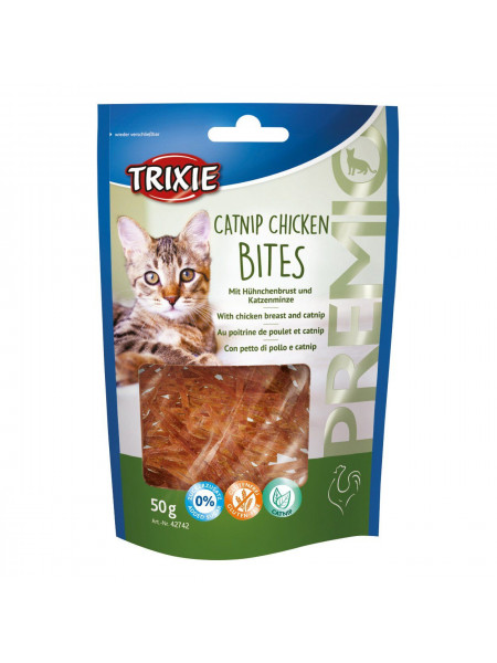 Лакомство для кошек Trixie PREMIO Catnip Chicken Bites 50 г (курица)